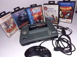 Vídeo Game MasterSystem III - Com jogo do Sonic na memória + 5 jogos raros