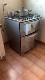 Fogão Eletrolux 5 bocas 2 fornos aço inox