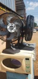 3 ventiladores  + 2 micro-ondas