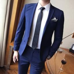 Sabado ternos slim azul royal e preto + baratos