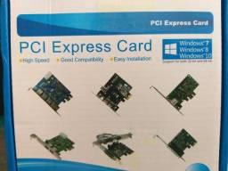 Placa De Rede Pci Express Lan Card 10/100/1000