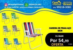 Cadeira de Praia Aço- MOR