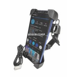 Suporte de celular para moto com carregador rápido (smartphone,bicicleta) Hmaston e inova