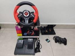 Play Station 2 + volante em excelente estado e 100% de funcionamento