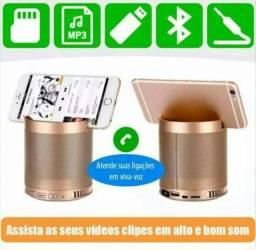 OFERTA: Gold Caixa de som Multifuncional Bluetooth e USB (NOVO)