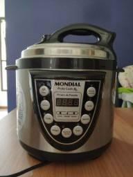 Panela Elétrica de Pressão Mondial Pratic Cook 4L PE-09 - Preto/Inox<br>