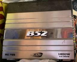 Caixa subwoofer + módulo B52 RC755 usada