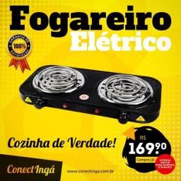 Fogão Elétrico 2 Bocas Antiaderente