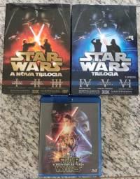 Star Wars (kit com as duas trilogias + O despertar da força em Blue Ray)