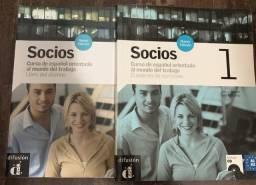 Conjunto de Espanhol Socios (A1- A2) + CD