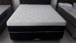 Cama Box + Colchao Plumastar Queen Size 158x198 A Pronta Entrega