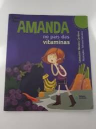 Livro infantil - Amanda no País das Vitaminas