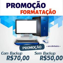 Formatação a partir de R$ 50,00 sem backup