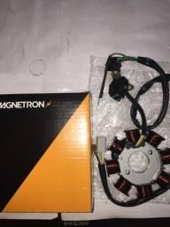 Estator do gerador C125 Biz ES/KS 2006/2008 Magnetron