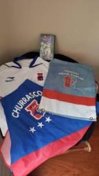 Kit Paraná Clube VHS 100 Gols Saulo Camisa Penalty Dinelson, Avental e Bolsa