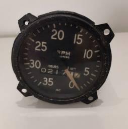 Instrumento avião - RPM com horímetro