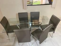 Título do anúncio: Mesa de vidro e cadeiras Jacaúna