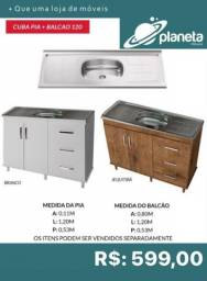 Cuba pia + balcão 120 599
