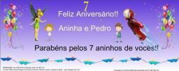 Faixa (0,60 x 1,5 m) - Aniversários/ Batizados/ Festas