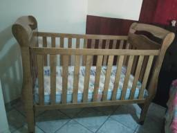 Berço madeira - Vira cama