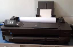 Vendo Impressora HP designjet T120 c/ 10 bobinas offset