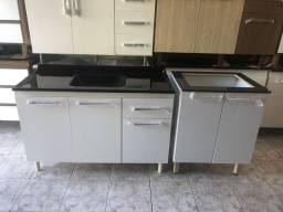 Balcão de cooktop e pia 1,20m