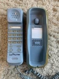 Telefone Fixo Com Fio La Phone Modelo Wt-2833 Azul Antigo Impecável Funcionando 100%!
