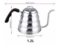 Título do anúncio: Chaleira com Termômetro - 1,2L - Aço Inox