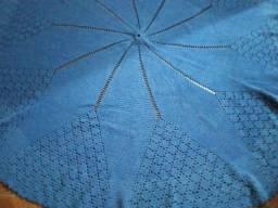 Vendo tapete crochê azul 2 metros