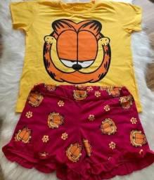 Pijama Garfield Novo