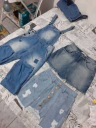 Saias Jeans e macacão USADOS