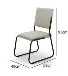 Conjunto Com 2 Cadeiras Antares Aço. Novas Lacradas, nunca usadas.