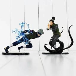 Kit 2x Action Figure Boneco Hatake Kakashi + Shikamaru Nara
