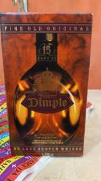 Whisky Dimple 15 anos, na caixa