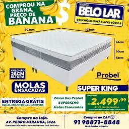 Cama Box Super King Molas Ensacadas, Compre no zap *