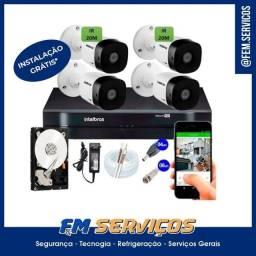 Kit Câmeras Segurança c/ Instalação Grátis