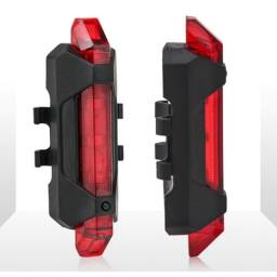 Lanterna de Bike Led Recarregavel Sinalizador Segurança