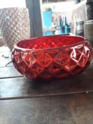 Vaso Bacia de porcelana dolomita com 3 falhas na pintura