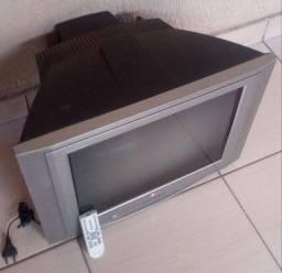 Tv 21 polegadas tela plana com.controle