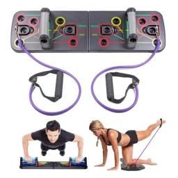 Prancha para flexão de braço com extensor elástico Push-UP Board