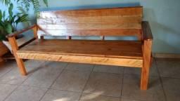 bancos de madeira para área externa e varanda
