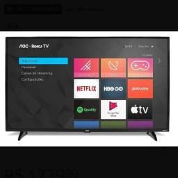 Tv 43 Smart Aoc com plástico ainda
