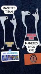 Manete cromada p/ Titan 125/150 Bros