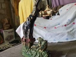 abajur elefante de porcelana pedreira antigo