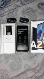Vendo esse lindo Samsung A21S novo completo com nota fiscal e garantia
