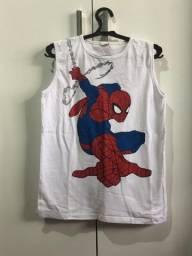 Três camisa do homem aranha nova