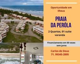 Não perca: Praia da  Pérola, 2 Quartos, 01 suíte,  68 m, varanda, vista mar,  em Ilhéus
