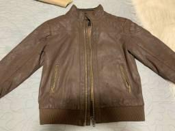 Jaqueta couro sintético tamanho 6