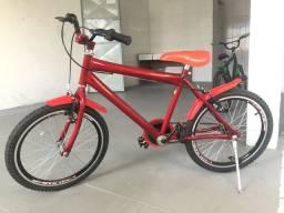 Bicicleta infantil média vermelha
