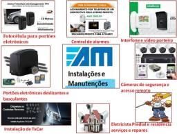 Câmeras de segurança CFTV portões eletrônicos TXcar...interfones e alarmes